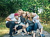 MILES HAR DEN SJELDNE DIAGNOSEN PROGERIA: Hele familien Werneman-Richardson. Fra venstre: Miles, pappa Jakob, Clementine, mamma Leah og Drake. FOTO: Heléne Lindsjö